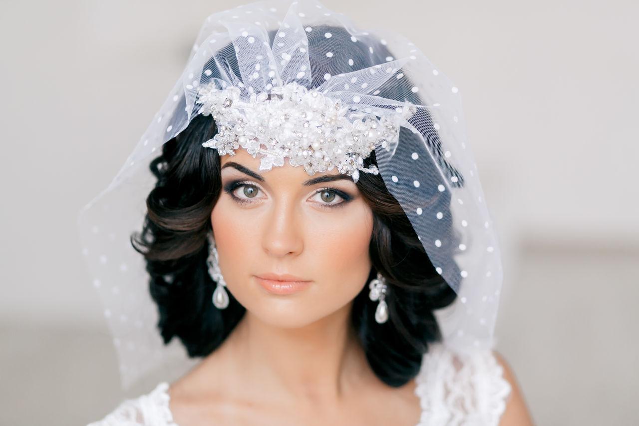 Свадебные причёски на короткое каре фото